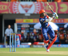 File: Delhi Daredevils player Shreyas Iyer in action during an IPL-2015 match between Sunrisers Hyderabad and Delhi Daredevils at Dr. Y.S. Rajasekhara Reddy ACA-VDCA Cricket Stadium, in Visakhapatnam, on April 18, 2015.