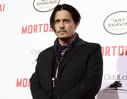 "In this Jan. 25, 2015 file photo, actor Johnny Depp attends the premiere of the feature film ""Mortdecai"" in Los Angeles."