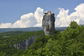 Hermitage of a monastery on the Katskhi pillar in Chiatura, Imereti region, Georgia
