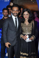 Ajinkya Rahane with his wife Radhika at the CEAT International Cricket Awards in Mumbai.