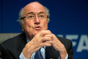 FIFA President Joseph S. Blatter speaks during a press conference at the end of the FIFA Executive Comitee meeting at the FIFA headquarters on March 20, 2015 in Zurich, Switzerland.