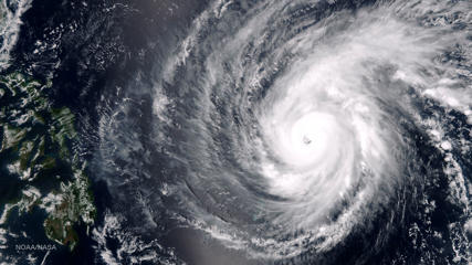 Super Typhoon Maysak in the Western Pacific Ocean, April 1, 2015.