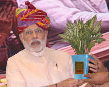 File: Prime Minister,Narendra Modi, on the occasion of the launch of DD Kisan, Doordarshan's channel dedicated exclusively to farmers, at Vigyan Bhawan in New Delhi on May 26, 2015.