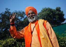 File: Indian priest-turned-lawmaker Sakshi Maharaj poses at his residence in New Delhi January 30, 2015.