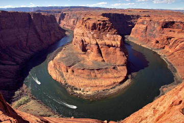 The Colorado River's Horseshoe Bend, near Page, Ariz.