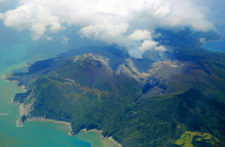 Volcano erupts on remote Japanese island, residents flee by boat