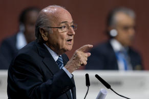 FIFA President Joseph S. Blatter speaks to the audience during the 65th FIFA Congress at Hallenstadion on May 29, 2015 in Zurich, Switzerland.