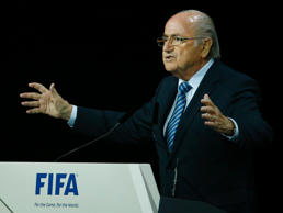 FIFA President Sepp Blatter makes a speech before the election process at the 65th FIFA Congress in Zurich, Switzerland, May 29, 2015.