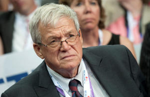 Former Speaker of the House Dennis Hastert, R-Ill., is seen at the 2012 Republican National Convention at the Tampa Bay Times Forum.