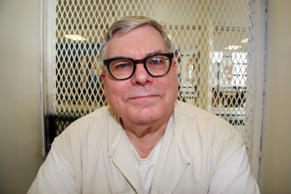 In this Jan. 7, 2015, file photo, Texas death row inmate Lester Bower is photographed in an interview cage at the visiting area of the Texas Department of Criminal Justice Polunsky Unit near Livingston, Texas. Bower, set to be executed June 3, 2015, for fatally shooting four men at an airplane hangar. Texas prison officials say they've obtained a new supply of drugs that will allow them to carry out the two executions currently scheduled.