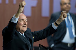 FIFA President Joseph S. Blatter celebrates his election during the 65th FIFA Congress at Hallenstadion in Zurich, Switzerland. Philipp Schmidli/Getty Images