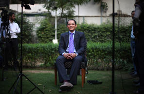 Former Indian cricket captain Mohammad Azharuddin, 49, addresses a press conference after a court revoked a life ban imposed on him for alleged involvement in match-fixing in New Delhi, India, Thursday, Nov. 8, 2012.