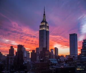 Empire State Building at dusk, Manhattan, New York City.