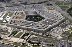 An aerial view of the Pentagon building in Washington in 2005.