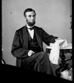 An image made from an Aug. 1863 glass plate negative of President Abraham Lincoln at a portrait studio in Washington, D.C.  Abraham Lincoln Book Shop Inc./AP Photo