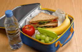 Healthy 5-a-day lunch box.
