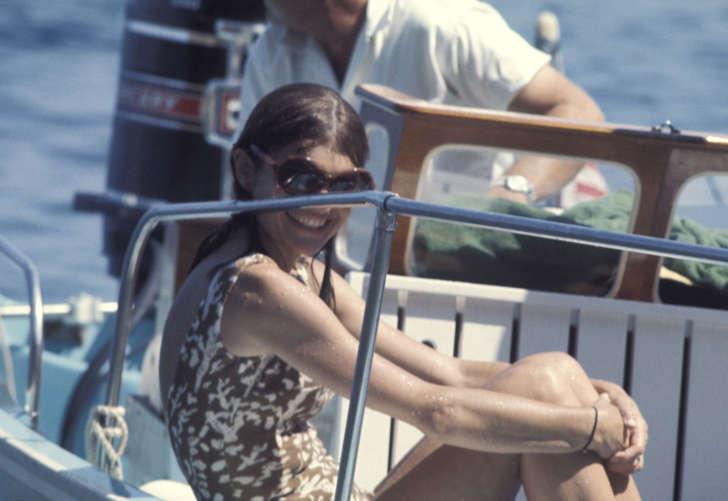 Jackie Kennedy off the Isle of Skorpios