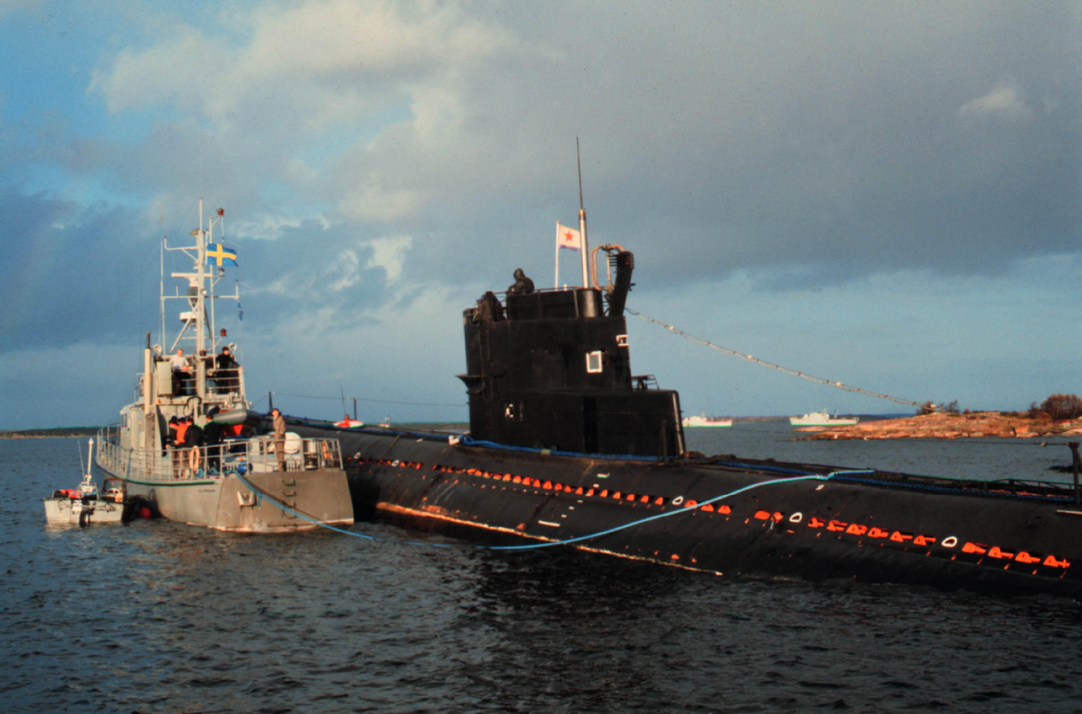 Vajde for rysk ubat utanfor gotland