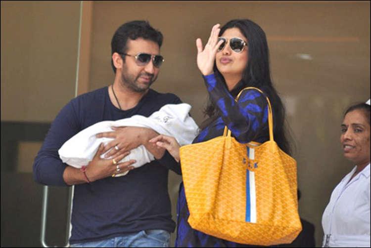 Shilpa Shetty, Raj Kundra take newborn son home