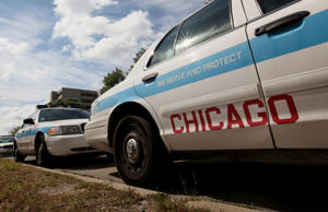 File photo of Chicago police cruisers.