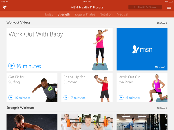 The MSN Health & Fitness App - now available on iOS and Android