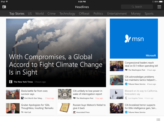 The MSN apps are now available for iOS, Android and Amazon