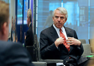 Robert Hugin, chief executive officer of Celgene Corp., during an interview in New York.