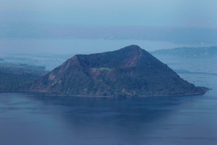 A view of a part of Taal Volcano and its lake south of Manila.